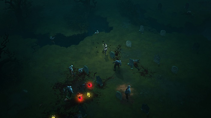 Diablo III Demon Hunter Killing Zombies