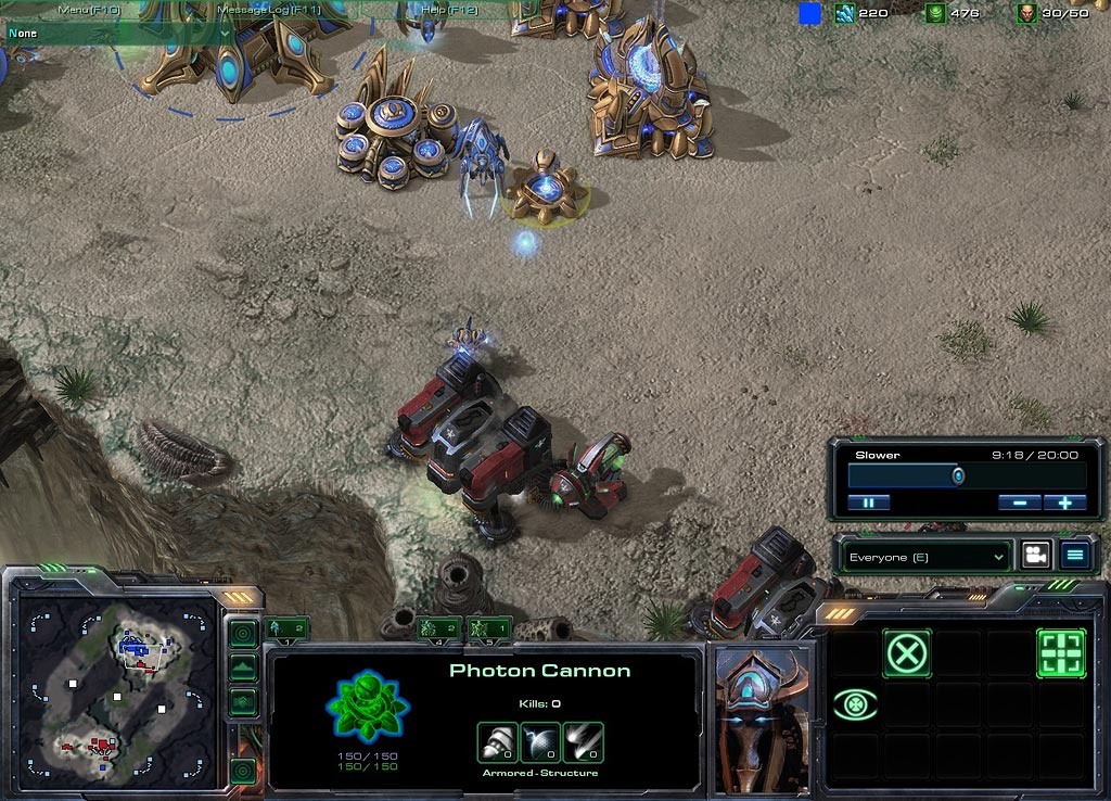 starcraft how to end game