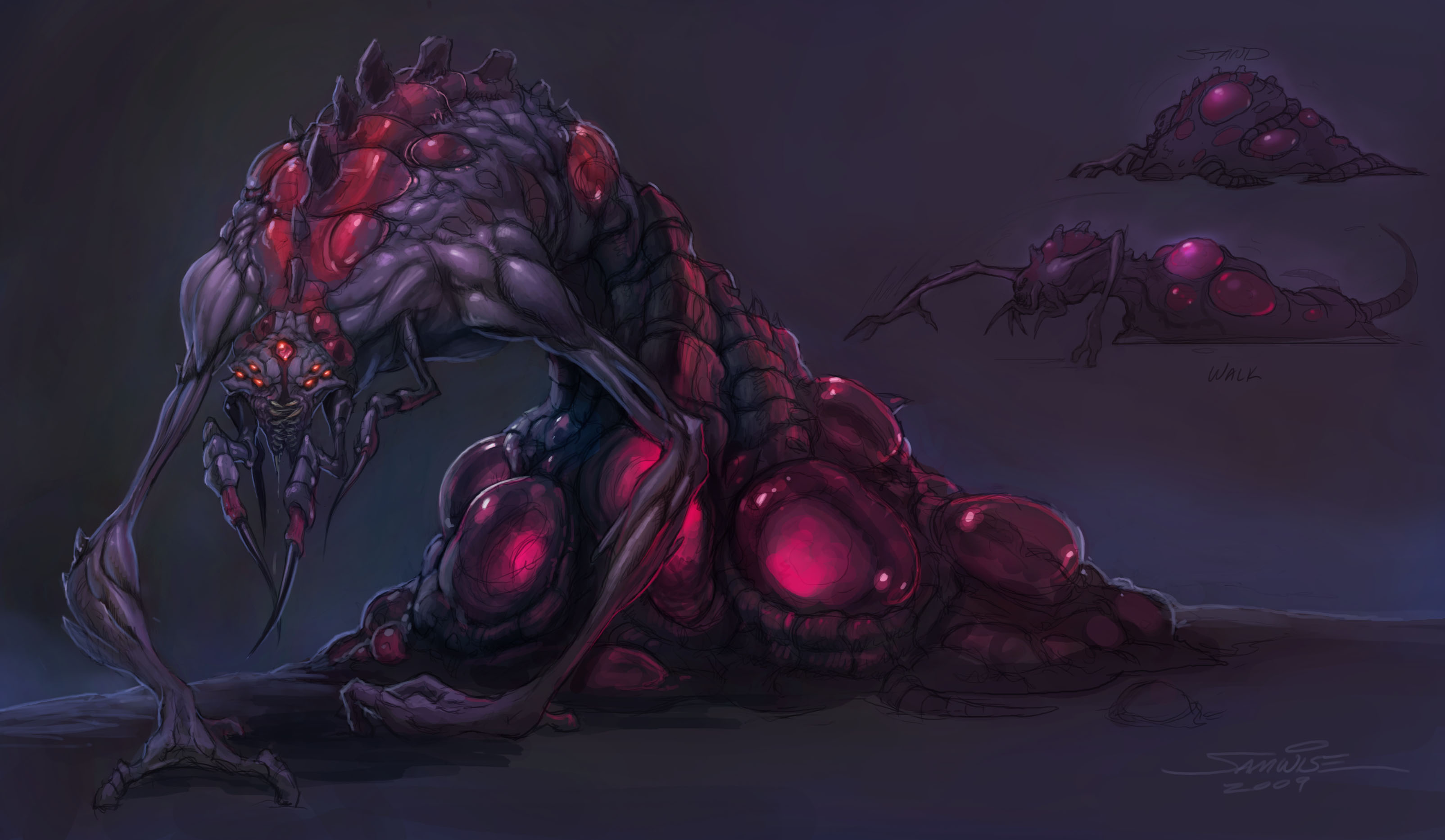 r3d • starcraft II: zerg | click for hires