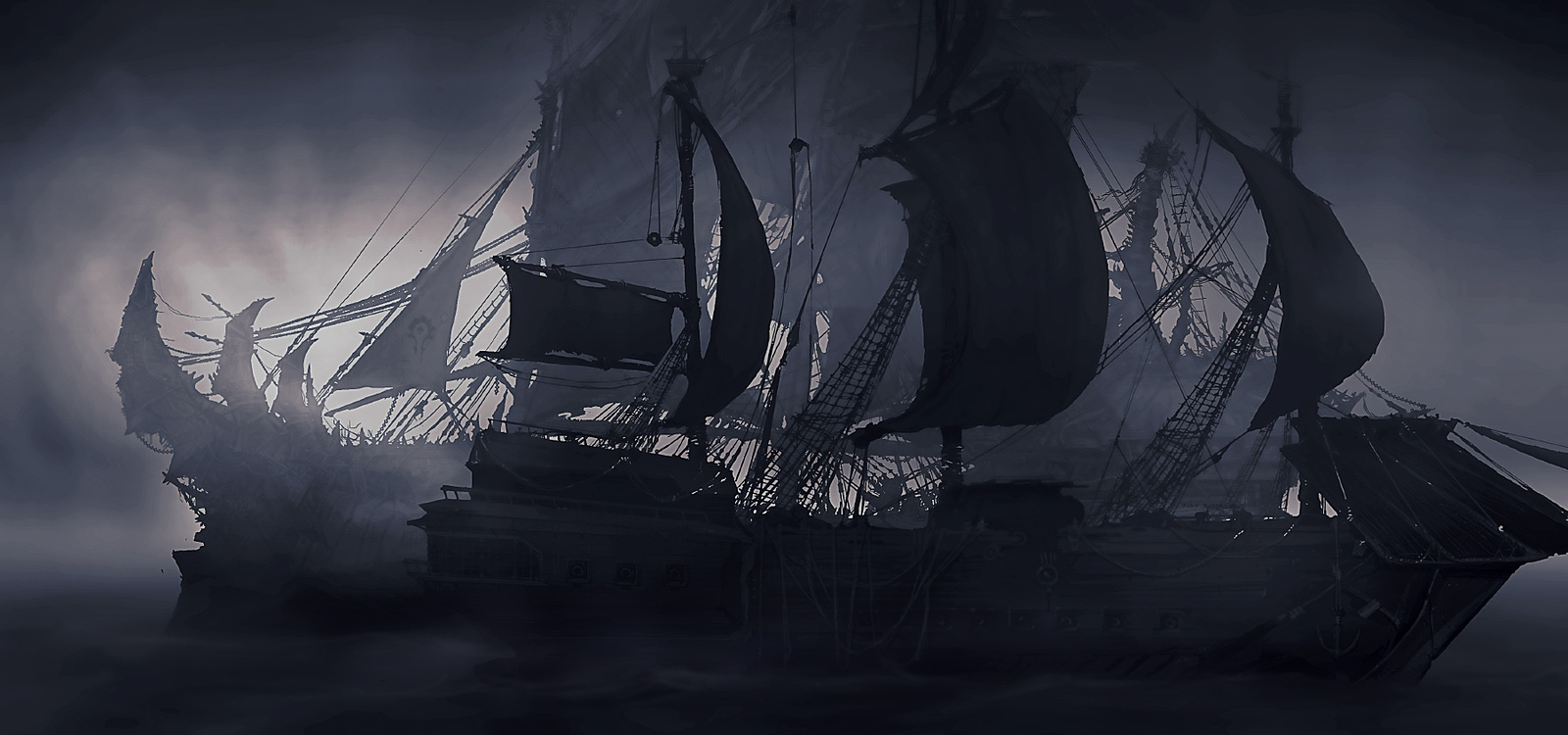 ghost pirate ships art
