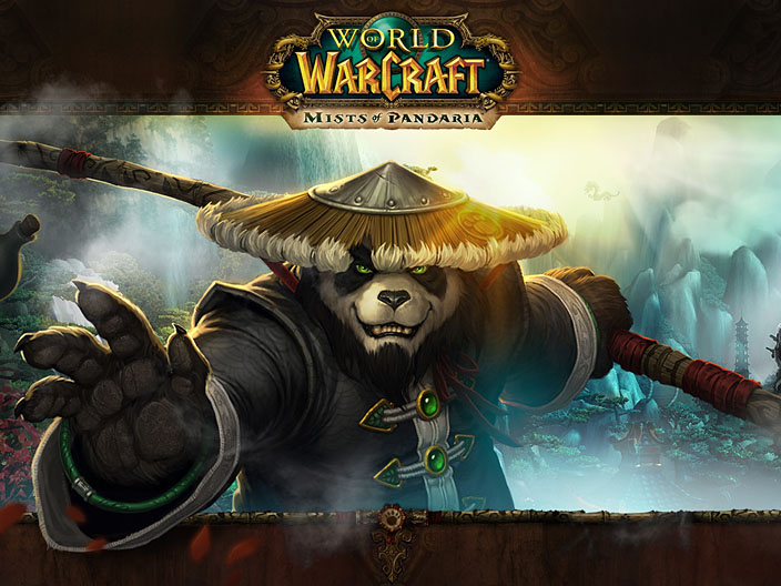 An official wallpaper for World of Warcraft: Mists of Pandaria